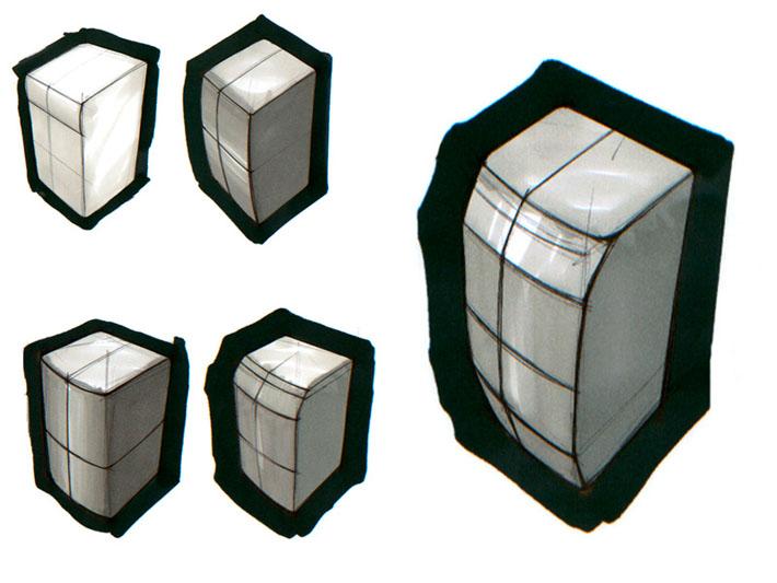 Croquis del diseño de cocinas Sindelen realizado por Imbris