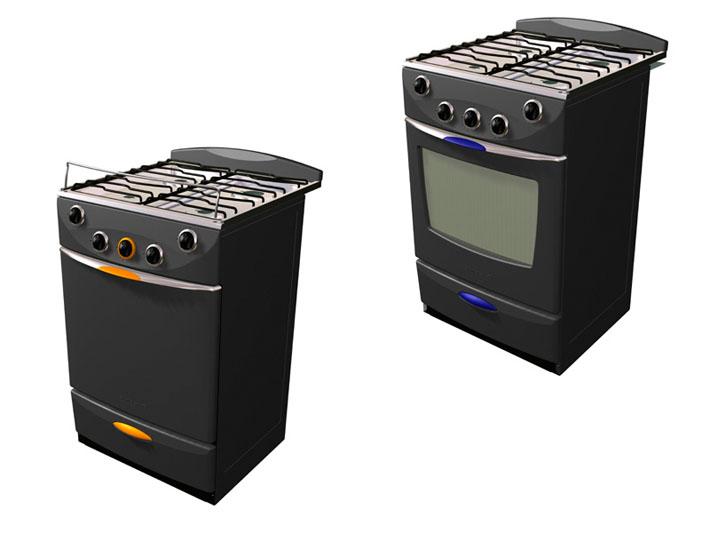 Modelado 3D del diseño de cocinas Sindelen realizado por Imbris
