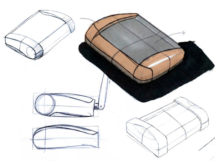 Croquis del diseño del equipo Axyon realizado por Imbris