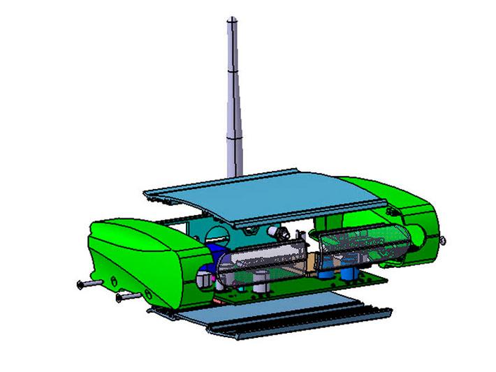 Modelo 3D del diseño del equipo Axyon realizado por Imbris