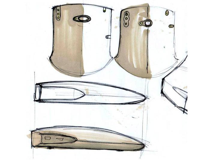 Croquis del diseño del equipo Xibelis realizado por Imbris
