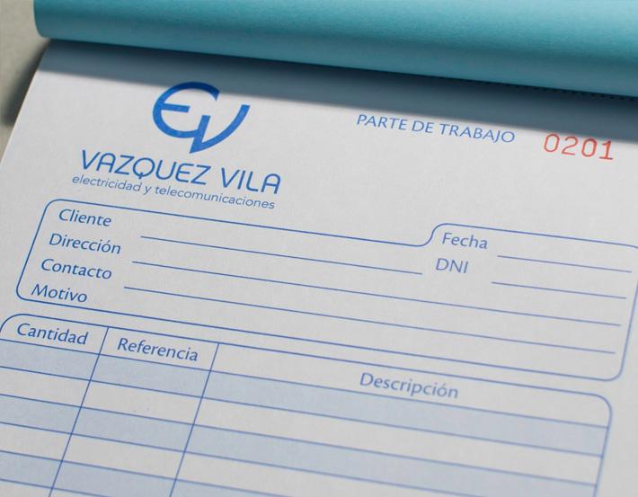 Diseño de Stationery de la nueva imagen de Vazquez Vila por Imbris