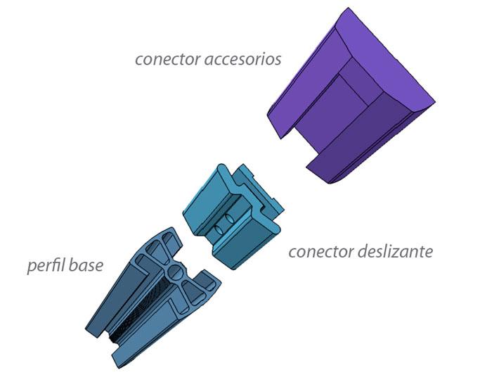 Modelo 3D del diseño mobiliario Zyta realizado por Imbris