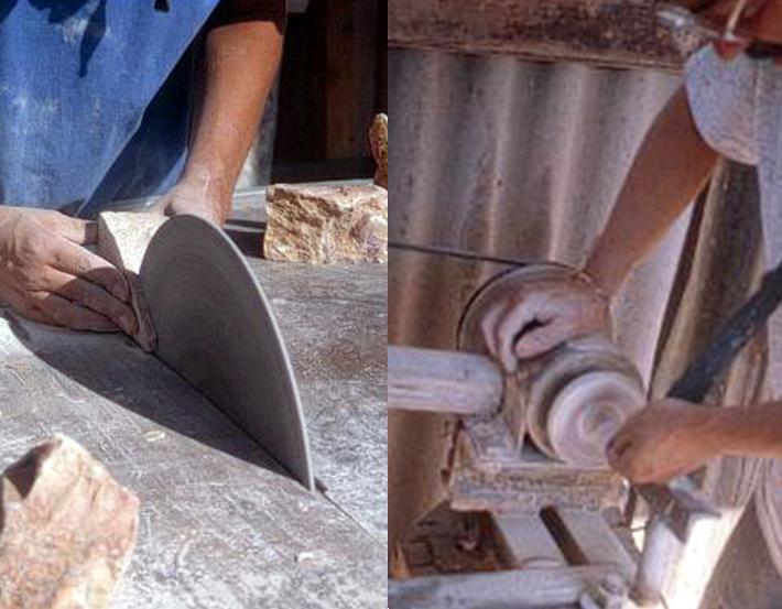 Diseño en piedra combarbalita y su proceso de producción