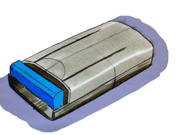 Croquis del diseño del equipo Sight realizado por Imbris