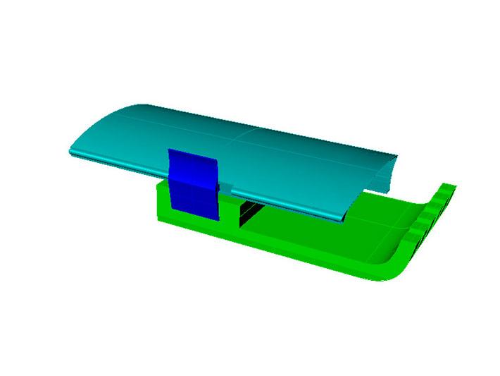 Modelo 3D del diseño del equipo Sight realizado por Imbris