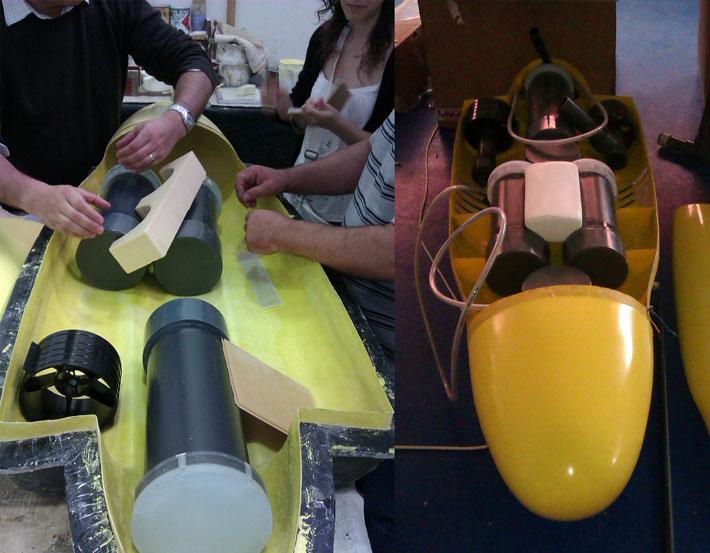 Prototipo del diseño del submarino CETMAR realizado por Imbris