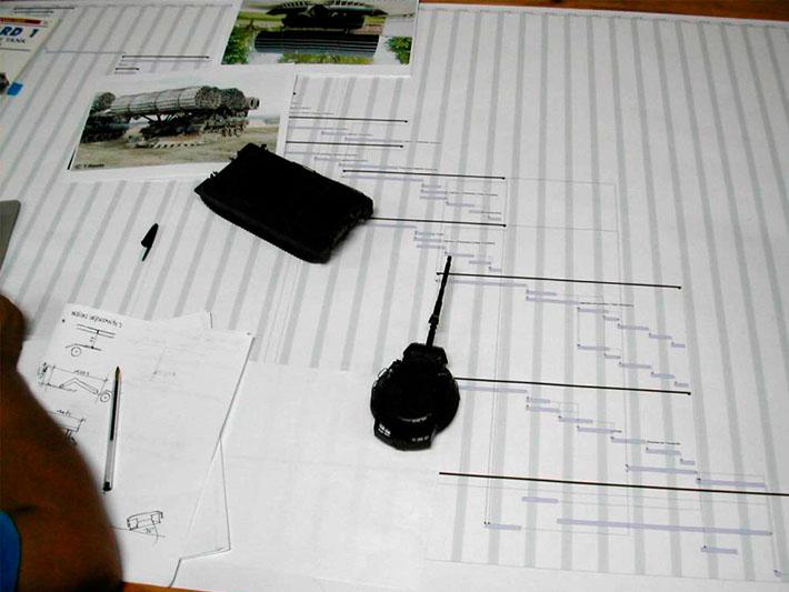 Planificación diseño habitáculo de vehículo militar realizado por Imbris