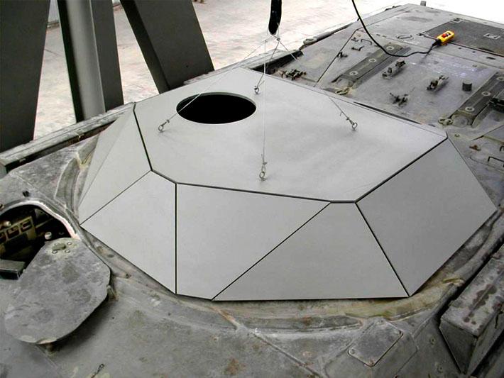 Prototipo del diseño habitáculo de vehículo militar realizado por Imbris