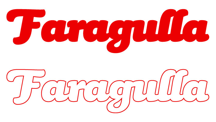 Logotipo de Faragulla, productos para los amantes de la comida