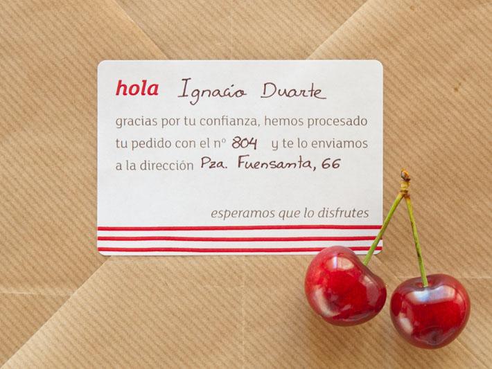 Etiqueta hola de Faragulla, productos para los amantes de la comida